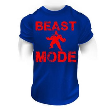 BEAST MODE SHIRT Gymmer motivational fitness clothes bodybuilding workout apparel