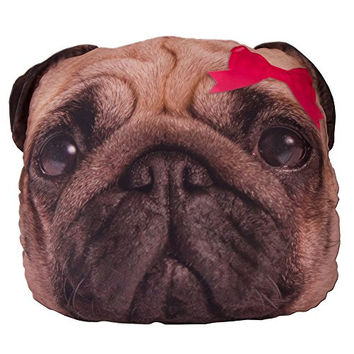 Style.Lab Pug Dog Photo Real Pillow