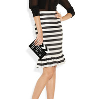 Mother of Pearl | Bella striped silk-satin skirt | NET-A-PORTER.COM