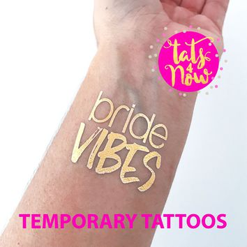 Bride Vibes Gold Tattoos