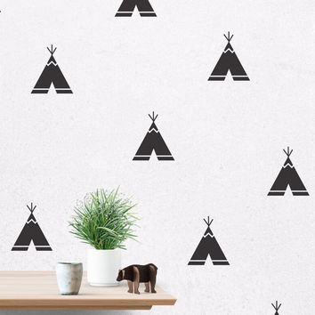 40 piece tee pee decal set