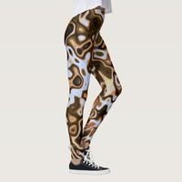 Brown Beige Imaginative Leopard Pattern Leggings
