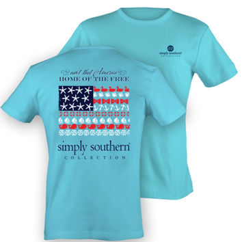 "Simply Southern ""Ain't That America"" Tee"