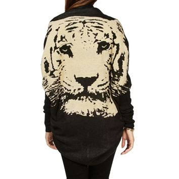 BlackTan Tiger Back Cocoon Sweater