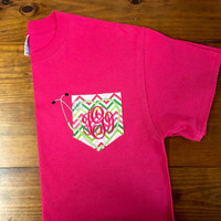 Nursing Stethescope Pocket Tshirt with Monogram