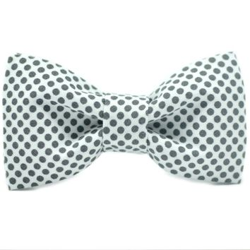Mr. Giggly Gray Dots Kids' Bow Tie