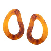 Oval Shaped Earring | Ombre