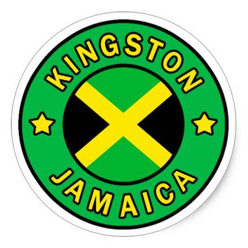 Kingston Jamaica Classic Round Sticker