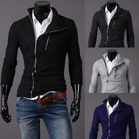 Biker Zip Men's Slim Fit Sweat Jacket