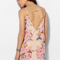 Oh My Love Deep V-Back Floral Slip Dress - Urban Outfitters