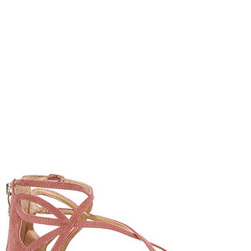 Chinese Laundry Penny Sunset Rose Suede Gladiator Sandals