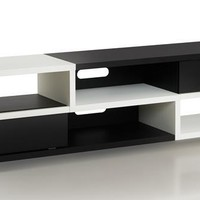 Suver Modern TV Stand in Black and White