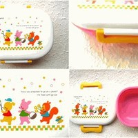 Cute Japanese Bento Box Clapping March Picnic PINK