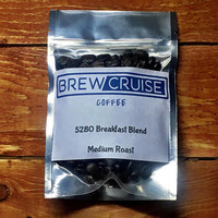Fresh Roasted 5280 Breakfast Blend Arabica Whole Coffee Bean 2 oz Sample Brew Cruise Coffee