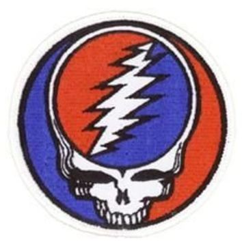 """Grateful Dead - Steal Your Face - Embroidered Iron on Patch - 3"""" x 3"""""""