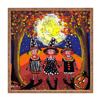 Renie Britenbucher 3 Little Witches Square Tray
