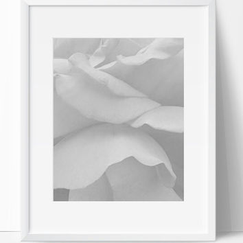 Wall Decor, Flower Decor, Instant Download, Floral Printable, Digital Print, Flower Art, Wall Art, 8x10, Sensual, Black White, Art