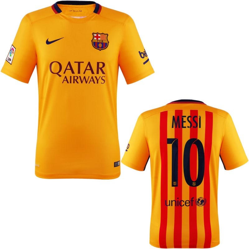 brand new 54ede 6a168 Messi Jersey Barcelona Away 2015 2016 from g2g Sport Chicago