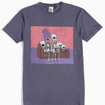 Junk Food The Simpsons Skeletons Tee - Urban Outfitters