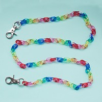 Fruit Loop Clear Chain Belt