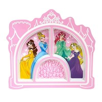 Disney Princess Kid's 8.5-in. Melamine Divided Plate by Jumping Beans (Pink)