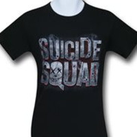Men's Suicide Squad Smoke Logo DC Comics licensed T-shirt