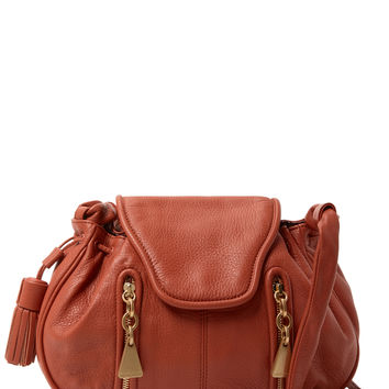 See by Chloe Women's Double Front Zip Leather Crossbody - Brown