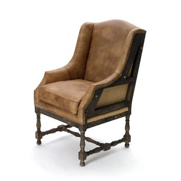 Leather Deconstructed Wing Chair