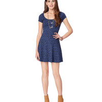 Aeropostale Womens Leopard Open-Back Dress