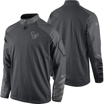 Houston Texans Nike Platinum Fly Rush 2.0 Pullover Performance Jacket – Charcoal - http://www.shareasale.com/m-pr.cfm?merchantID=7124&userID=1042934&productID=551829822 / Houston Texans