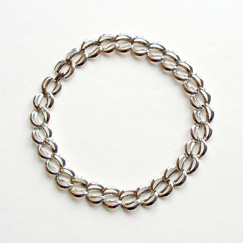 Napier Vintage Necklace Runway Silver Chunky Chain 60s 70s Retro