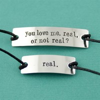 Hunger Games Real or Not Real Cotton Cord Bracelet Set - Spiffing Jewelry