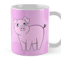 Cute Little Piggy (Baby Pig) - Pink Black