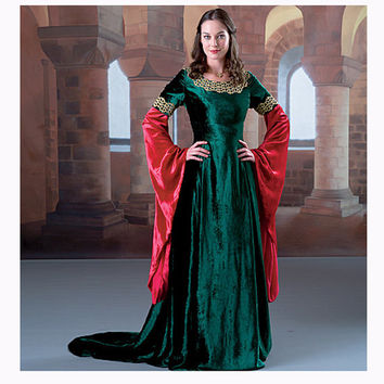 RENAISSANCE DRESS PATTERN Medieval Dress Costume Historic Reenactment Maiden Dress McCalls 4490 Size 6 8 10 12 UNCuT Womens Sewing Patterns