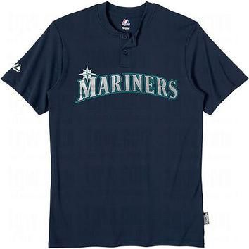 Seattle Mariners (ADULT LARGE) Two Button MLB Officially Licensed Majestic Major Leagu