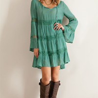 Solid Guise Baby Doll Dress - Dusty Sage