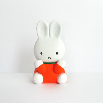 Vintage Dick Bruna Miffy Squeaky Toy 1980s Bunny