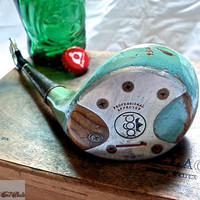 Golf Club Bottle Opener  - -  Vintage PGA Golf Company 1 Wood - - Golf Gift