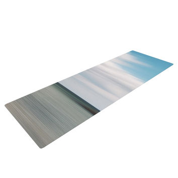"Iris Lehnhardt ""June Beach"" Gray Blue Yoga Mat"