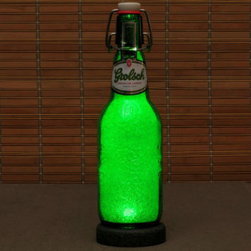 Grolsch Lager LED Beer Bottle Lamp Big16oz Night Light Bar Lamp Man Cave Pub Holland