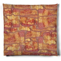 Fried Bacon Food Photo Pillow