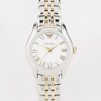 Emporio Armani Two Tone Bracelet Watch