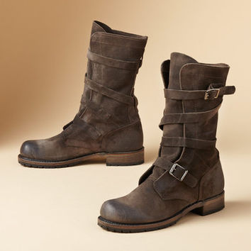 JENNIFER SUEDE TANKER BOOTS BY VINTAGE SHOE CO         -                  Boots         -                  Footwear & Bags                       | Robert Redford's Sundance Catalog