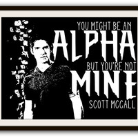Teen Wolf Scott McCall Typography Poster Print