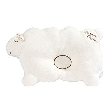 Baby Pillow For Newborn Organic Cotton, Protection for Flat Head Syndrome (Lamb)