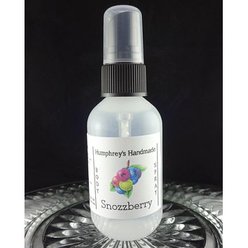 SNOZZBERRY Body Spray | 2 oz | Wildberry | Mixed Berries Perfume