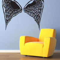 Vinyl Wall Decal Sticker Small Angel Wings #OS_MB1033