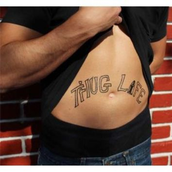 Thug Life Temporary Tattoos - Pack of 4