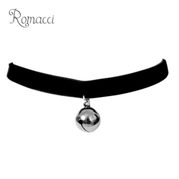 Fashion Gothic Lolita Style Bell Choker Necklace Trendy Punk Collar Neck Chain Jewelry Accessory for Women Girls Best Gift