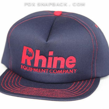 Rhine Equipment Vintage Snapback Hat - construction, manly, rhino